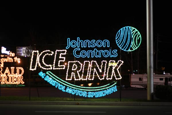 Johnson Controls Ice Rink At Bristol Motor Speedway