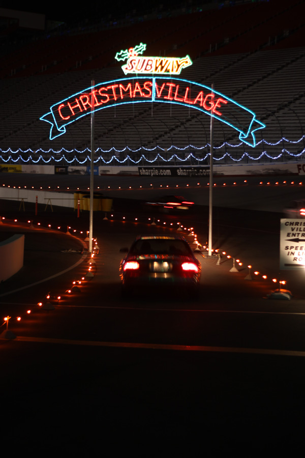 Christmas Lights At Charlotte Motor Speedway